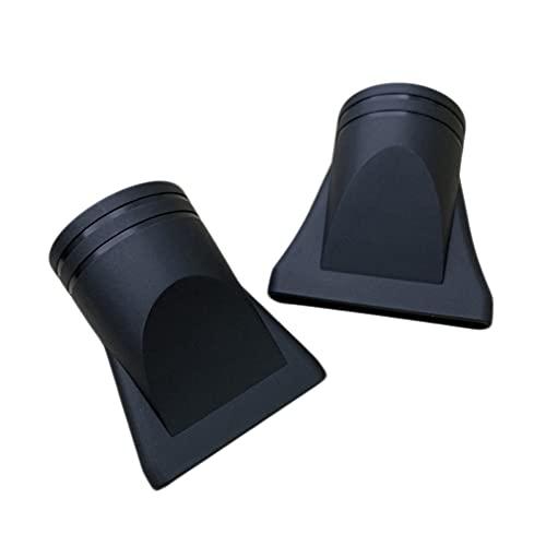 2 piezas de plástico para secador de pelo de peluquería, boquilla de repuesto para cepillo plano, herramienta de estilismo, diámetro 4,5 cm y 4,6 cm, color negro
