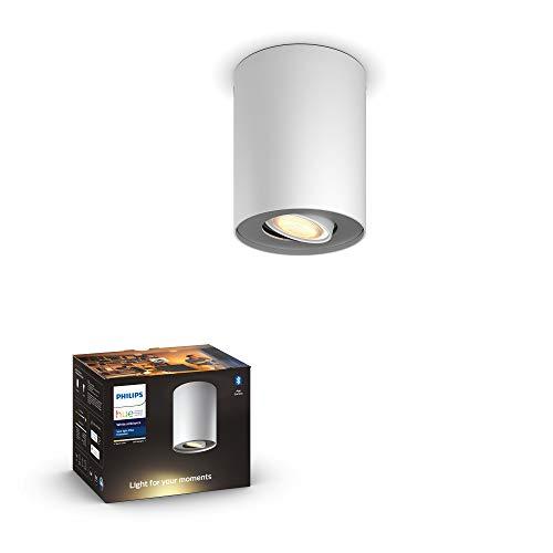 Philips Hue White Amb. LED 1-er Spotleuchte Pillar, weiß, dimmbar, alle Weißschattierungen, steuerbar via App, kompatibel mit Amazon Alexa (Echo, Echo Dot), 915005917101