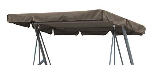 GRASEKAMP Qualität seit 1972 Ersatzdach Universal Hollywoodschaukel Taupe Ersatz-Bezug Sonnendach Dachplane