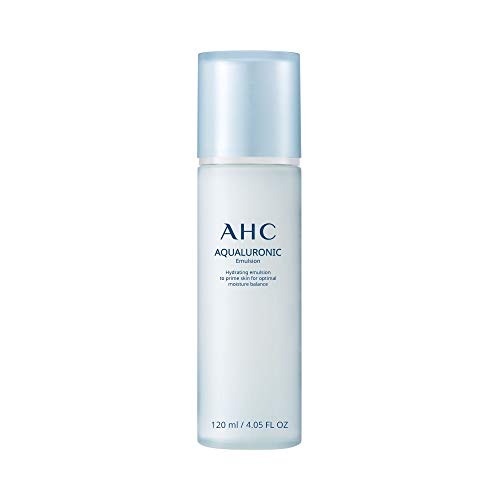Aesthetic Hydration Cosmetics AHC Aqualuronic Emulsion for Dehydrated Skin Triple Hyaluronic Acid Face Lotion Korean Skincare 4.05 oz