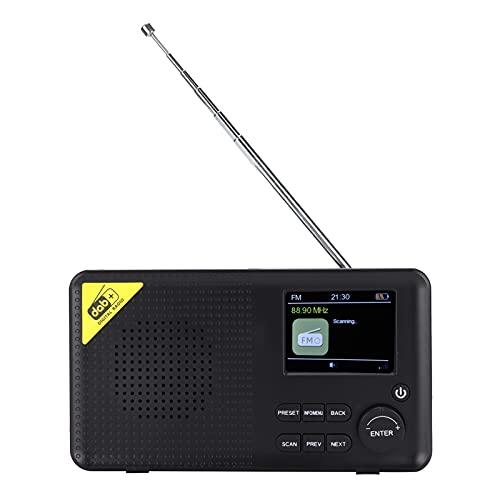 Garsentx Radio FM Digital Dab/Dab +, Reloj Despertador LCD, Receptor de Radio portátil Bluetooth con Carga USB, batería Recargable, Radio Bluetooth 5.0