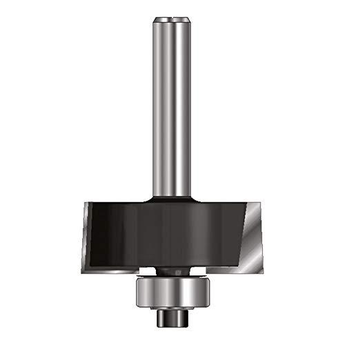 ENT 16620 Falzfräser HW (HM), Schaft (C) 8 mm, Durchmesser (A) 31,8 mm, B 12,7 mm, E 9,5 mm, D 32 mm, mit Kugellager