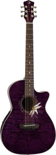 Luna Guitars FLO PF QM - Guitarra electroacústica, color morado