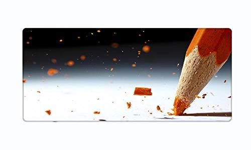 xxl gaming mauspad Orangefarbener Bleistift kreativ PC Spiel Mausunterlage cooles enormes Schreibtischmatte Jungen Mädchen Kinder Geschenke Leichtathletik Präzision