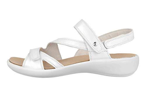 Romika Ibiza 105 Sandalen in Übergrößen Weiß 16105 194 010 große Damenschuhe, Größe:43
