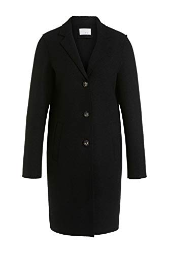Oui Damen Mantel im klassischen Schnitt tailliert geschnitten Uni Herbstmode