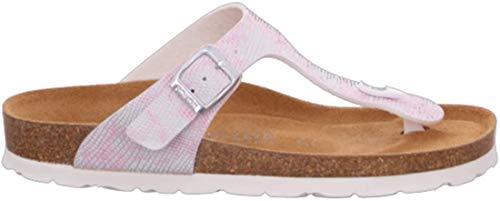 Rohde Alba 5606 Damen Sandale Sandalette Zehentrenner 44 Rose, Größe:D 36