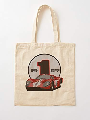 Generic Turbo GT Racing Car GT40 Mustang Shelby Muscle   Einkaufstaschen aus Segeltuch mit Griffen, Einkaufstaschen aus robuster Baumwolle