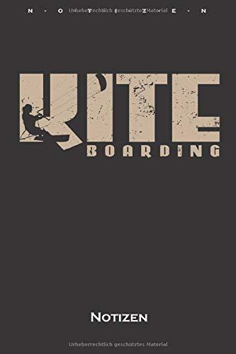 Kite Boarding Notizbuch: Liniertes Notizbuch für Fans des Wassersports