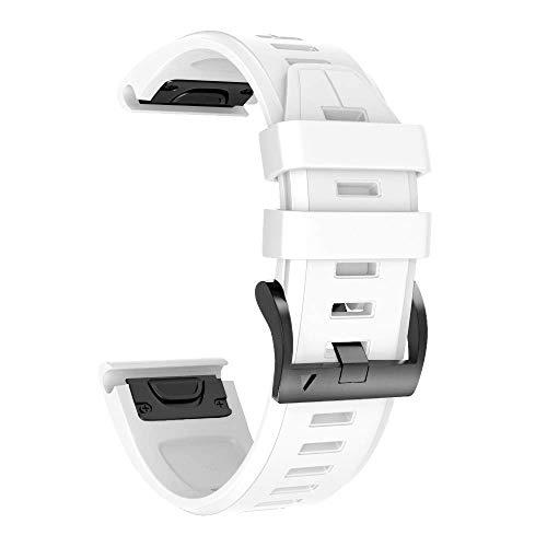 NotoCity Armband für Garmin Fenix 5/Fenix 5 Plus/Fenix 6/Fenix 6 Pro/Forerunner 935/945, 22mm Breite Silikon Quick-Fit Uhrenarmband, Mehrfache Farben (Weiss)