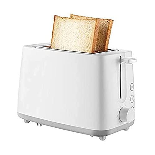 XTZJ Tostadora 2 Tostadora Dos tostadora con tostadora de bandejas de migas extraíbles Tostadoras de tragamonedas de ancho 2 rebanadas con 7 configuraciones de pan de pan y panecillo, descongelación,