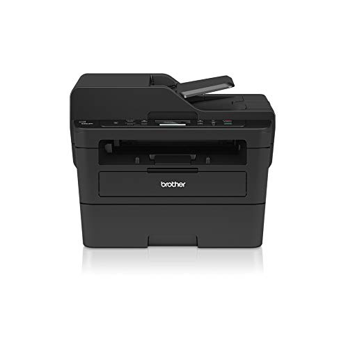 Brother DCPL2550DN Multifunktions-Laserdrucker 3 in 1 weiß und schwarz, 34 ppm mit kabelgebundener Netzwerkkarte (kein WLAN), automatischer Druck, 50 Blatt ADF und LCD-Display