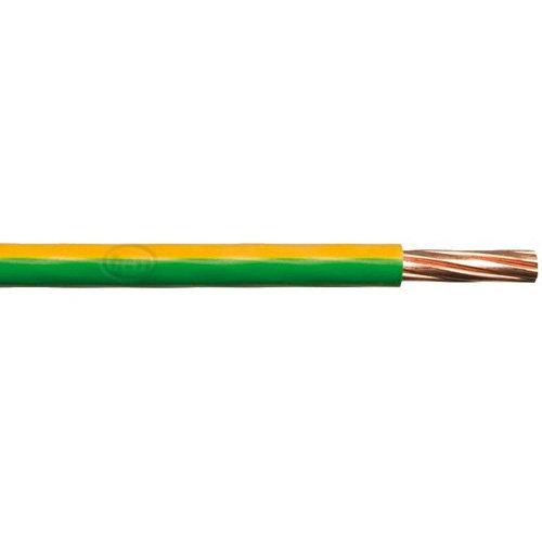 Bulk Hardware BH01516 4,0 mm Einadrige Erdkabel 6491X, 10 Meter Gelb/Grün, Weiß, m
