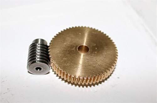 L-Yune,bolt 1 Juego 1 M-60Teeths precisión de Cobre Turbo Worm Reductor de...