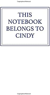 This Notebook Belongs to Cindy