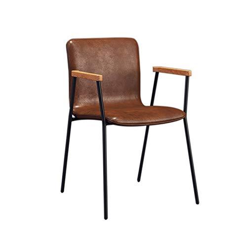 Nordic PP met rugleuning met armleuningen, koffiestoel, eetkamer, woonkamer, slaapkamer, kleedkamer, om stoelen, ijzeren poten, eenvoudige manier om casual kunstkruk te spreken A+ rood