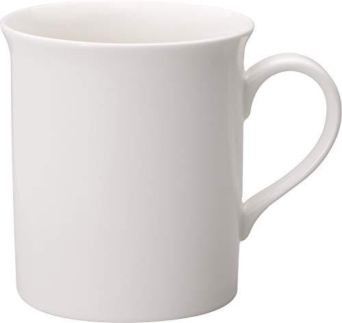 Villeroy & Boch Twist White Kaffeebecher 300 ml, Höhe: 9 cm, Premium Porzellan, Weiß