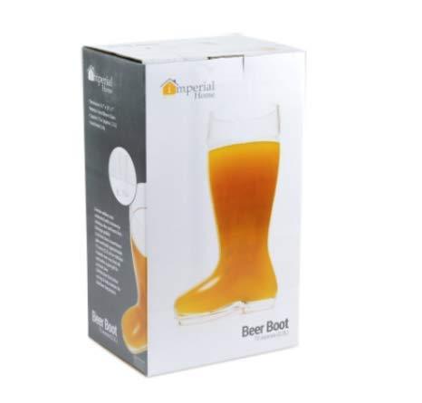 Imperial Home MW1871-BB Oktoberfest Style Glass Beer Boot/Das Boot - Octoberfest Glass Beer Mug - 2 Liter