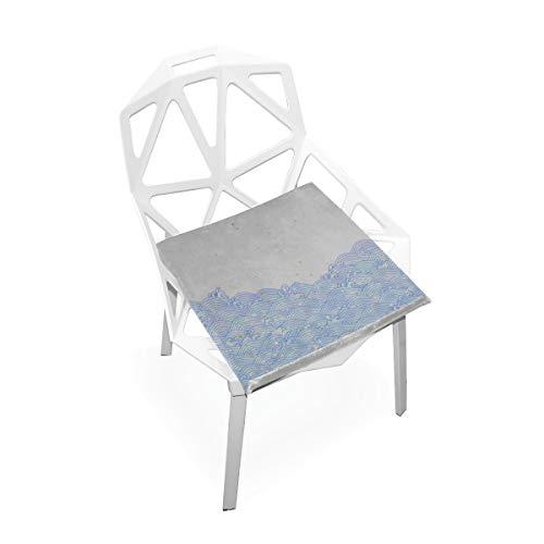 La chaise carrée molle antidérapante molle faite sur commande mousse mémoire mémoire carrée traditionnelle japonaise coussins siège pour la cuisine à la maison salle à manger fauteuil 16 x 16 pouces