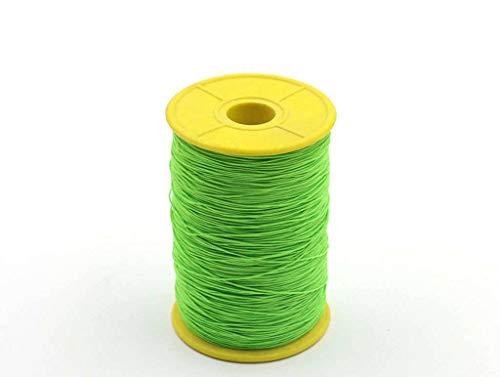 0.5mm, elastische band, dunne fijne ronde elastische stretch koord elastisch touw voor naaien ambachten diy, kunst sprei 12 kleuren-groen-0.5mm-500Meter