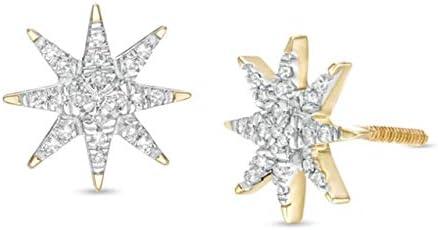 0.12 CT Round Cut El Paso New popularity Mall Created Adorable Diamond Starburst Stu Cluster