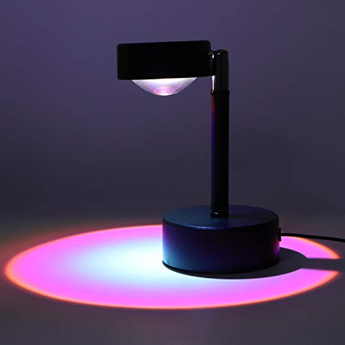 BHDD Lámpara Ambiental, proyector de luz LED ecológico de 5 V, Ahorro de energía con rotación de 180 ° USB Recargable para la Sala de Estar del Dormitorio