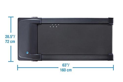 LifeSpan TR1200-DT3 Under Desk Treadmill,black;gray,Large