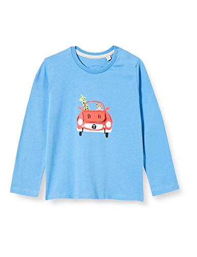 TOM TAILOR Baby-Jungen Langarmshirt T-Shirt, Chalky Azure|Blue, 92