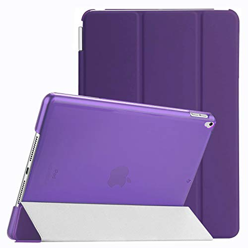 Weuiean Compatible with iPad 7th Generation 10.2 Inch 2019 Case, Dual Separable Leather Cover Folio Stand Shockproof Hard PC Back, Slim Fit Auto Sleep Wake Magnet Cover for A2197 A2198 A2200 - Purple