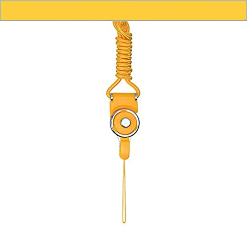 Correa para teléfono móvil para iPhone, cordón para el cuello, cordón para el cuello, cordón para teléfonos, llaves, cordón para el cuello, correa para colgar, cuerda de mano, amarillo