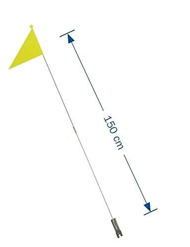 P4B | Teilbarer Sicherheitswimpel | Security Flag | ca. 150 cm | Fahne für Kinderfahrrad