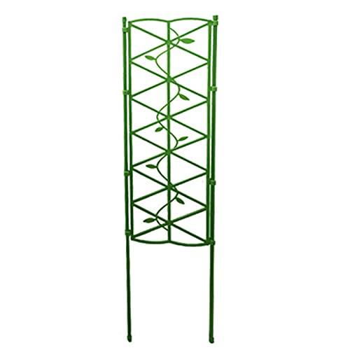1 columna de rosas de metal revestido, obelisco, soporte para plantas de jardín, marco ligero