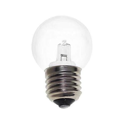 Stronrive Bombillas Halógenas E27 50W para Horno Y Microondas, 2700K Tolerante Al Calor 500 °, para Microondas Y Horno, Lámpara De Sal, Sin Parpadeo