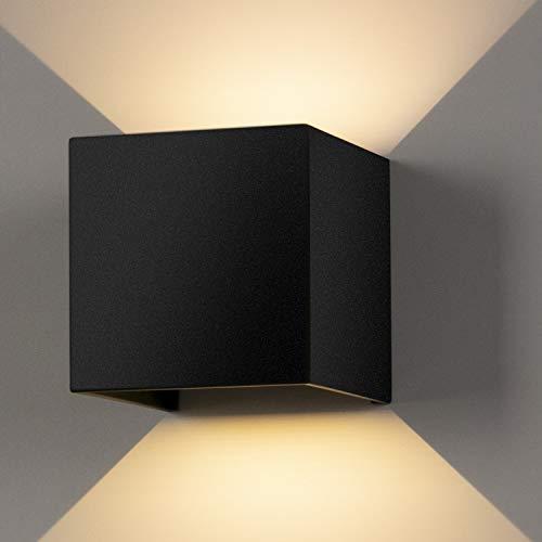 20W Aplique pared LED Blanco Cálido 3000K 2000lm Lampara de pared Interior/Exterior...