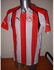 Olympiakos Rivaldo Brasil Grecia - Camiseta de manga corta para adulto, talla grande, para fútbol, Puma BNWT Barcelona AC Milan Olympiacos griegos Vintage 2005/06