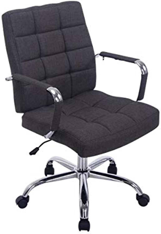 CLP Bürostuhl Deli PRO mit Stoffbezug I Schreibtischstuhl mit Metalldrehkreuz I Chefsessel mit Laufrollen I erhltlich Dunkelgrau