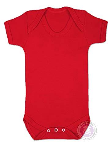 Baby Moo's UK - Body para bebé, color rojo rojo rosso Talla:6-12 meses