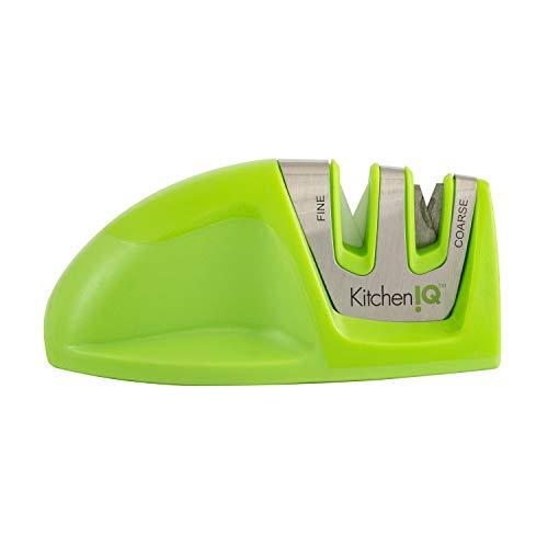 KitchenIQ 50883 Edge Grip 2-Stage Knife, Green