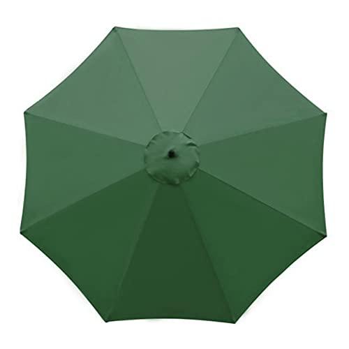 Leww 10 pies de repuesto para sombrilla de patio, toldo de mercado, paraguas de mesa, toldo para exteriores, cubierta de repuesto con 8 varillas