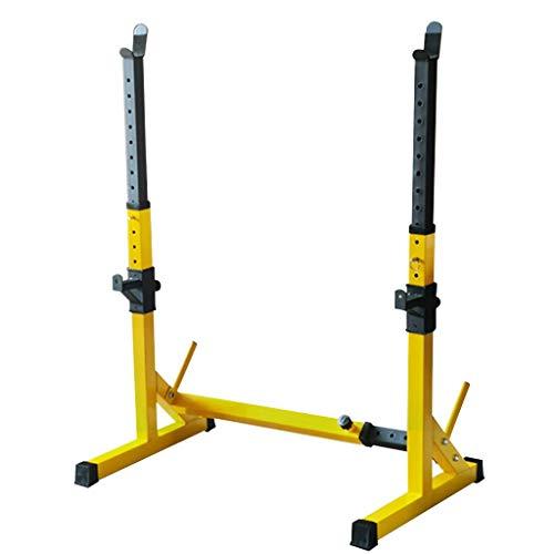 Krafttraining Home Fitnessgeräte Home Einfache Gewichtheben Bank Bankdrücken Langhantel Rack Flachpress Bank Hantel Bank (Color : Yellow, Size : 56**114 * 131cm)