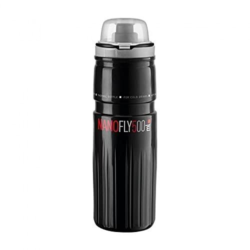 ELITE Bidon Nano Fly 500 ml, Adulti Unisex, Nero (Nero), Taglia Unica