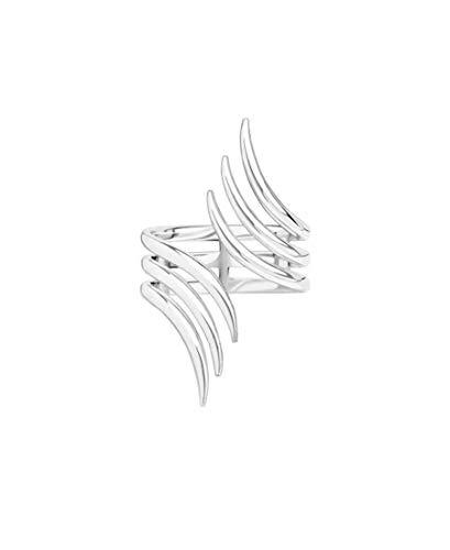 DARK DIAMOND  -Anillo Tres lineas en Plata de Ley 925 o baño de Oro de 18K. Joya antióxido y de Larga Durabilidad Comoda para Uso Diario. Disponible en Varias Tallas. (Plata)