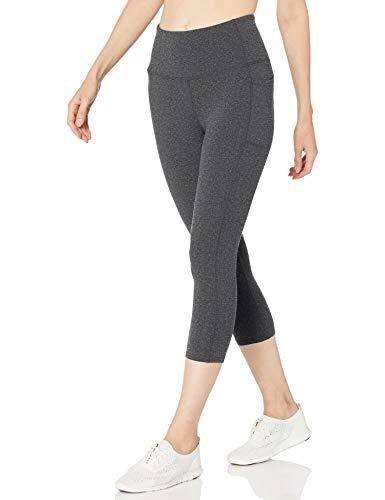 Skechers Women's Go Flex High Waist Mid Calf Legging Yoga Pant, Heathered Gray, XX-Large