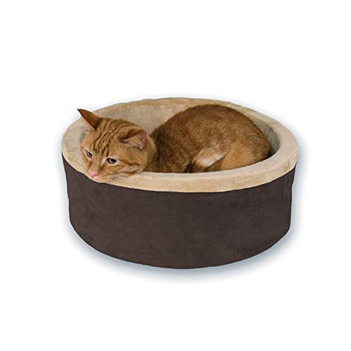 K&H 773192 Pets, Thermo Heated Bed for Cats and Dogs, Bettwärmer für Hunde und Katzen, Mocha, groß, L