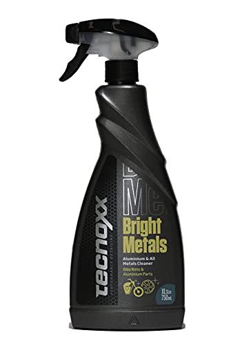 Tecnoxx – Bright Metals Limpiador de Llantas de aleación y Partes metálicas de Motos y quads 750 mL con pulverizador Envase XL
