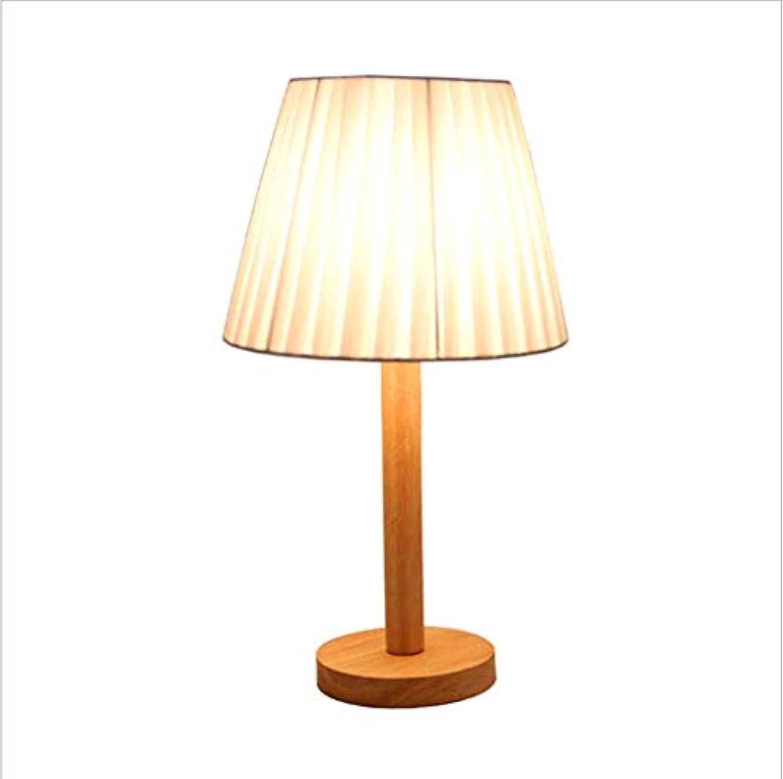 Augenschutz Tischlampe Massivholzlampe LED Wohnzimmer Studie Schlafzimmer Nachttischlampe Moderne Minimalistische Warme Ursprüngliche Holztischlampe Schlafzimmer Wohnzimmer lesen (Farbe   D)