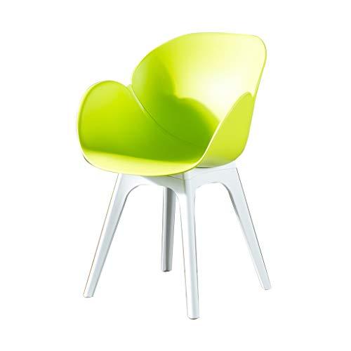 SLY Keuken Eetstoelen, Modern Plastic Cafe Milk Tea Lounge Waiting Area Guest Room Ouderen Huisvesting Huishoudelijke Bureaustoel (Color : Green)