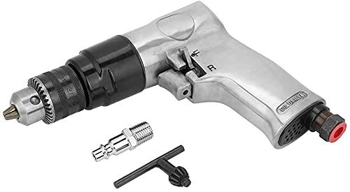 Mifty Taladro neumático de 3/8 pulgadas de alta velocidad de la herramienta de perforación de aire reversible interruptor de rotación para perforación de agujeros Velocidad sin carga 1700rpm