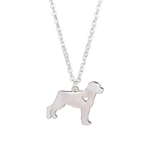 n a Gold Silber 1pc Modische Rottweiler Halskette Benutzerdefinierte Hundekette Hundezucht Haustier Schmuck New Puppy Memorial Geschenk