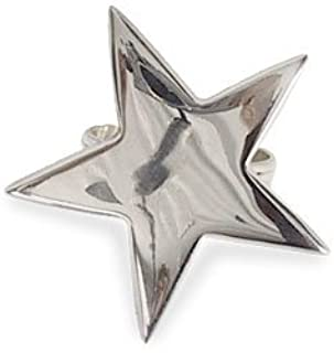 Design Imports 5 Point Silver Star Napkin Ring